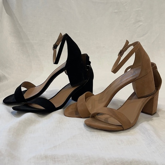 Black Simple Summer Heels